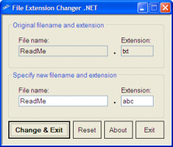 File Extension Changer .NET Screenshot